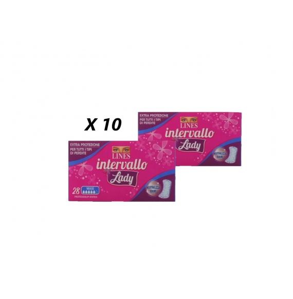 10 PACCHI LINES INTERVALLO LADY PROTEGGI SLIP X28