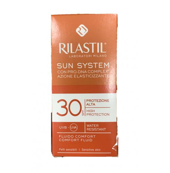 RILASTIL SUN SYSTEM PPT FLUIDO COMFORT PELLI SENSIBILI SPF30 50ML