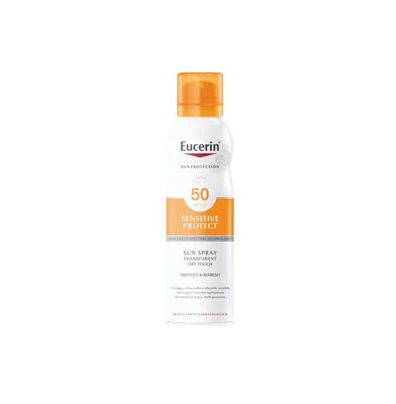 Eucerin Sensitive Protect Sun Spray Transparent Dry Touch SPF 50 200 ML