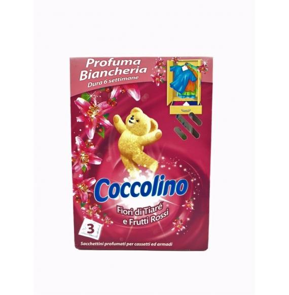 Coccolino Profuma Biancheria Fiori Di Tiaré E Frutti Rossi Pz.3