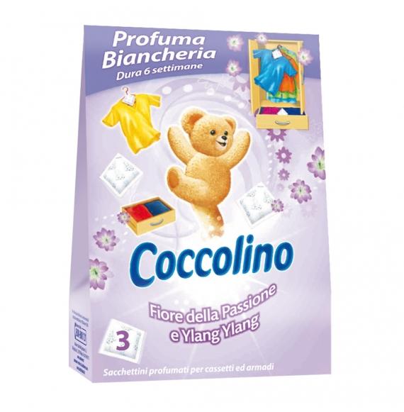 COCCOLINO PROFUMA BIANCHERIA FIORE DELLA PASSIONE E YLANG YLANG PZ.3