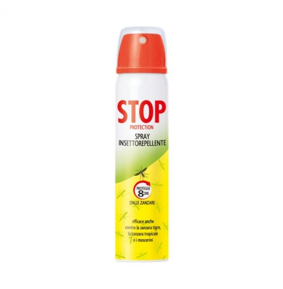 STOP PROTECTION INSETTOREPELLENTE PROTEGGE 8 ORE DALLE ZANZARE SPRAY 100ML
