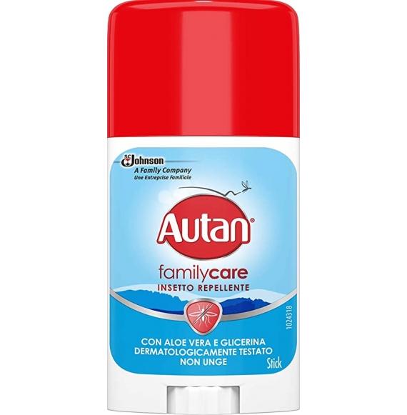 Autan Family Care Stick, Insetto Repellente e Antizanzare Tigre e Comuni, Lozione con Aloe Vera e Camomilla 50 ml