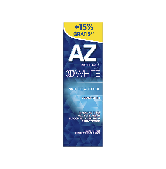 AZ DENTIFRICIO 3D WHITE&COOL 75 ML - 16 PZ