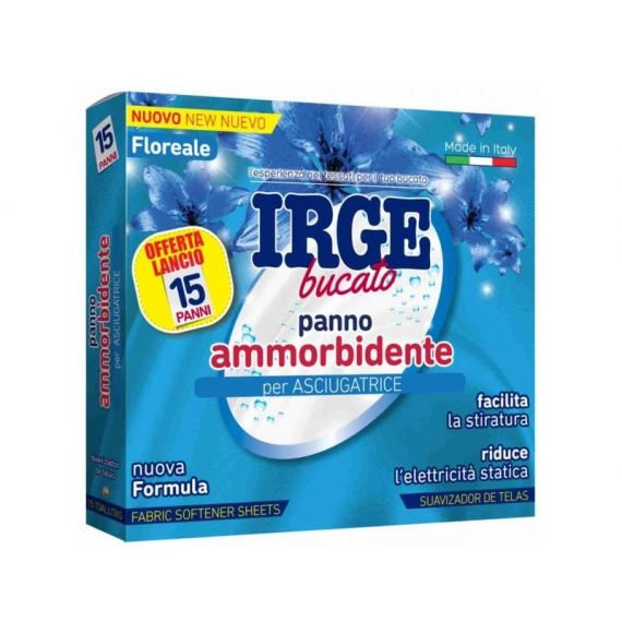 IRGE BUCATO PANNO AMMORBIDENTE PER ASCIUGATRICE 15PZ