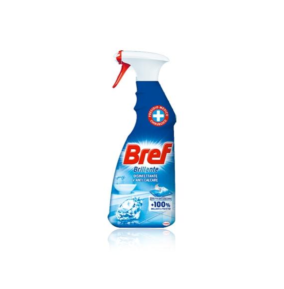 Bref 100% Brillante Spray Disinfettante e Anti-Calcare 750 ml PRESIDIO MEDICO CHIRURGICO