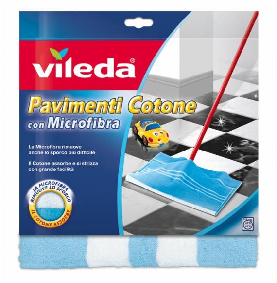 Vileda Panno Pavimenti Cotone e Microfibra