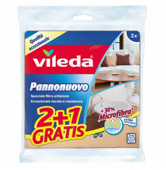 Vileda Pannonuovo +30% Microfibra 2+1PZ