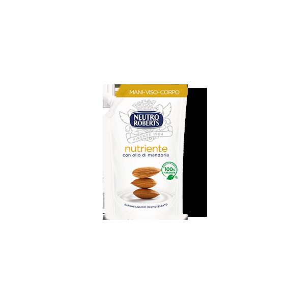 Neutro Roberts Sapone Liquido EcoRicarica Nutriente Con Olio Di Mandorla 400ml