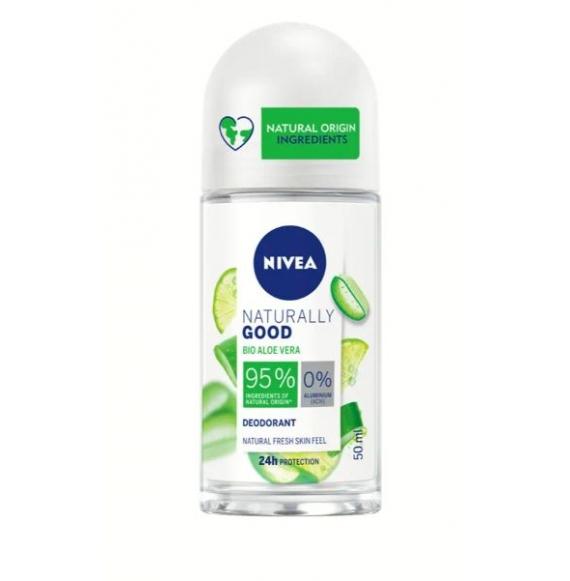 Nivea Deodorante Roll-On Naturally Good Bio Aloe Vera 50ml
