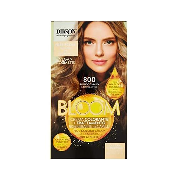 Dikson Bloom Crema Colorante Trattamento Rigenerante per Capelli 800 Biondo Chiaro