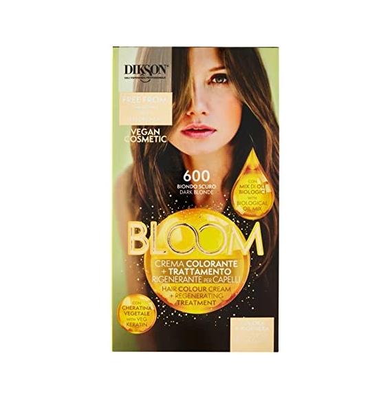 Dikson Bloom Crema Colorante Trattamento Rigenerante per Capelli 500 Castano Chiaro