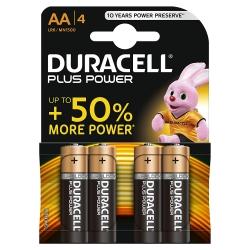 DURACELL PLUS POWER, PILE STILO X4