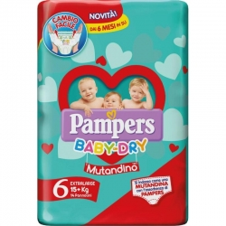 PAMPERS PANNOLINI EXTRALARGE 15+ KG  14 PZ